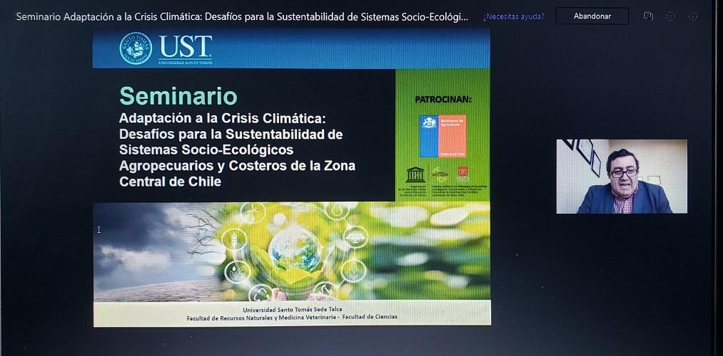 Universidad Santo Tomás Talca debatió sobre Cambio Climático